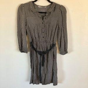Zara Black & White Polka Dot Shirt Dress